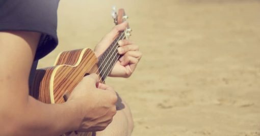 person playing ukulele