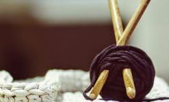Crocheting with yarn
