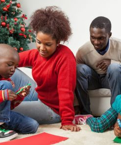 Family together writing the letter to santa for christmas online course
