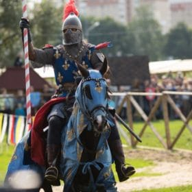 knight on a horse studied in medieval history online course on luma learn