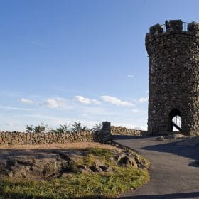 Castle Craig Tower in new england studied in US history online course