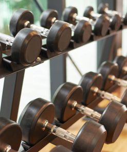 dumbbell in gym studied in physical education online course on luma learn