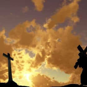 Christ carrying His cross to calvary studied in a bible online course on luma learn