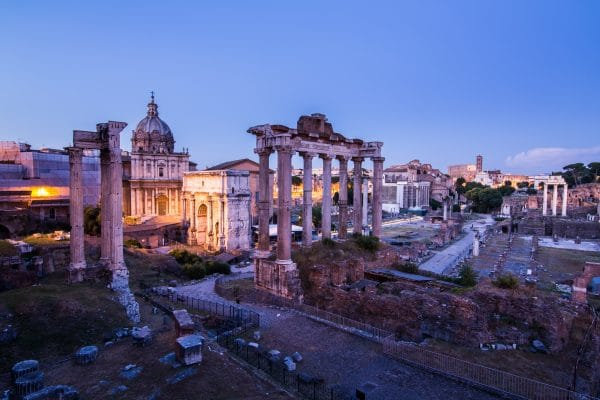 Roman forum studied in world history online course