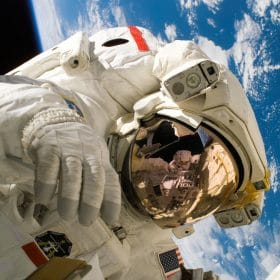 Astronaut studied in IEW All Things Fun and Fascinating online course on Luma Learn