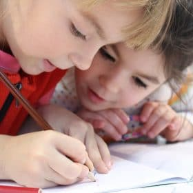 primary homeschool student taking online course on Luma Learn