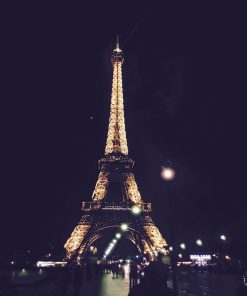 Eiffel Tower at night for french online course on Luma Learn taught from a biblical world view
