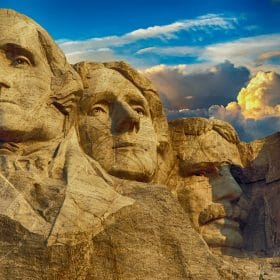 Mt. Rushmore as studied in a history online course on Luma Learn