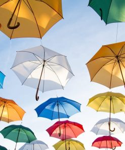 colorful umbrellas studied in online course on Luma Learn