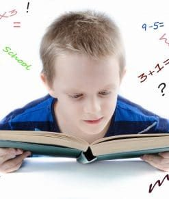 young male homeschool student taking online course on luma learn