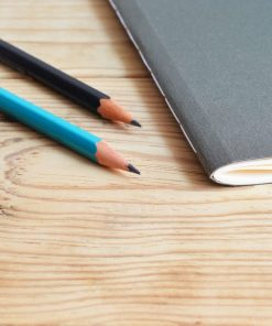 notebook and pencils for online course on luma learn