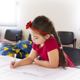 young female christian homeschool student taking Writing A Super Story online course on luma learn