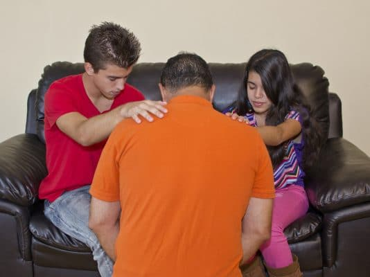 An advantage of homeschooling is being able to pray with your children.