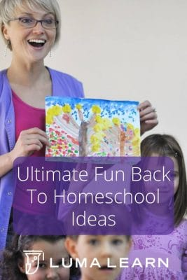 Ultimate Fun Back To Homeschool Ideas to make this time of year as fun as it can be. I know you'll love these back to school ideas. #backtohomeschool #backtoschool #lumalearn #onlinecourses